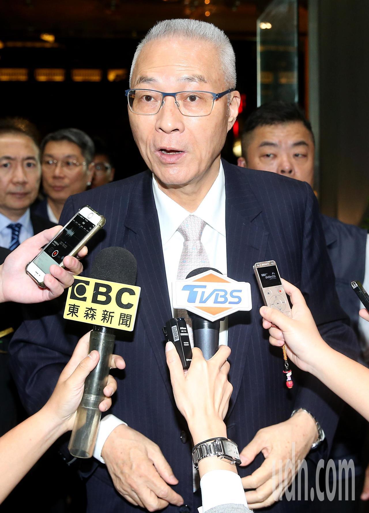 國民黨主席吳敦義出席第19屆金峰獎頒獎晚會。記者余承翰/攝影