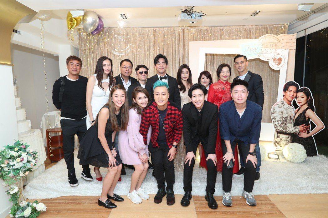 柯有倫香港婚宴,星友們齊聚。圖/柯有倫提供