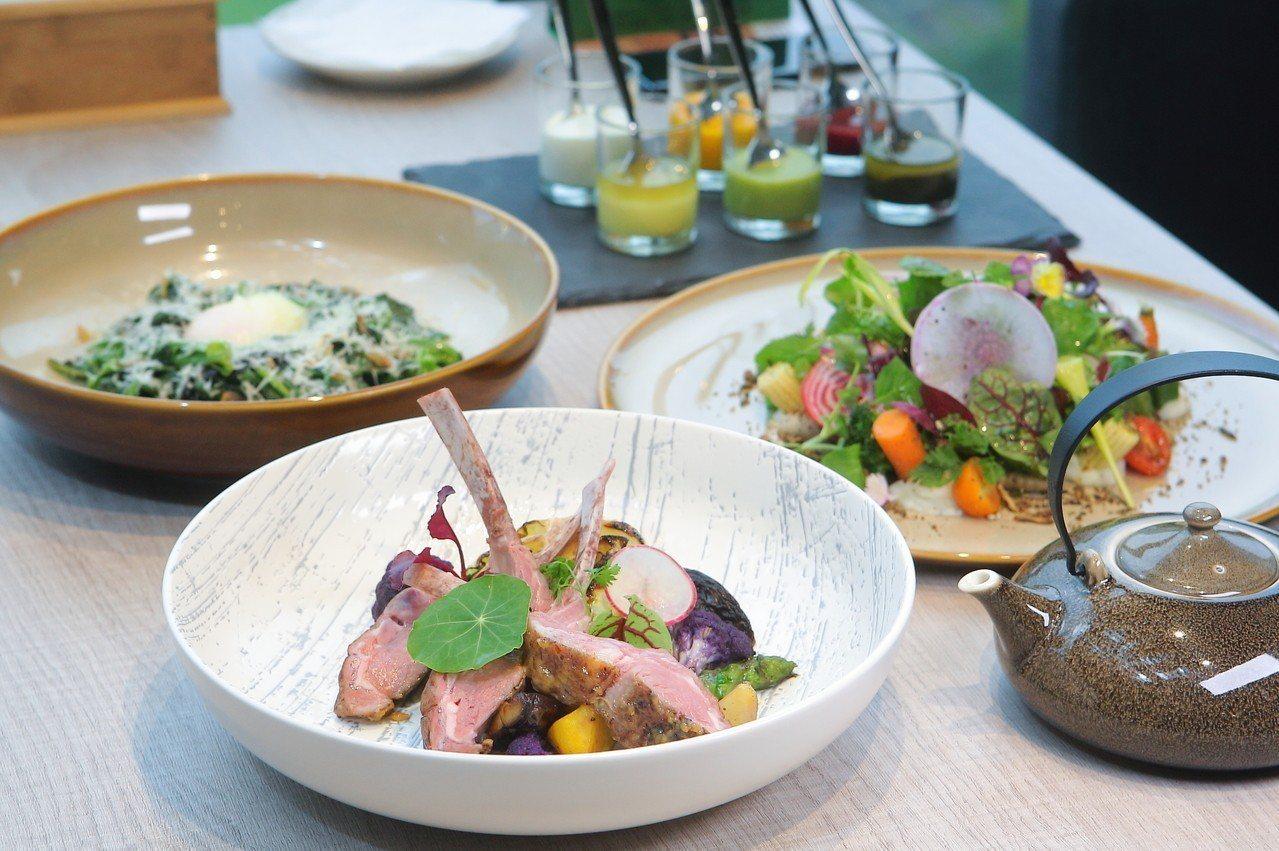 étage15 ENJOY TABLE主打跨界、選用在地新鮮食材的料理。記者陳睿...