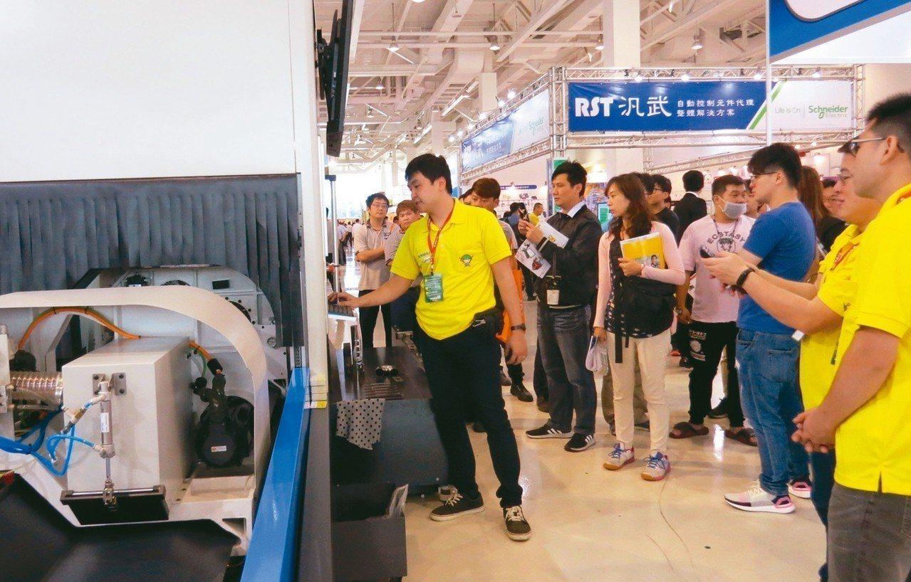 經濟日報主辦的「2019高雄自動化工業展」昨天在高雄展覽館登場。 記者謝梅芬/攝...