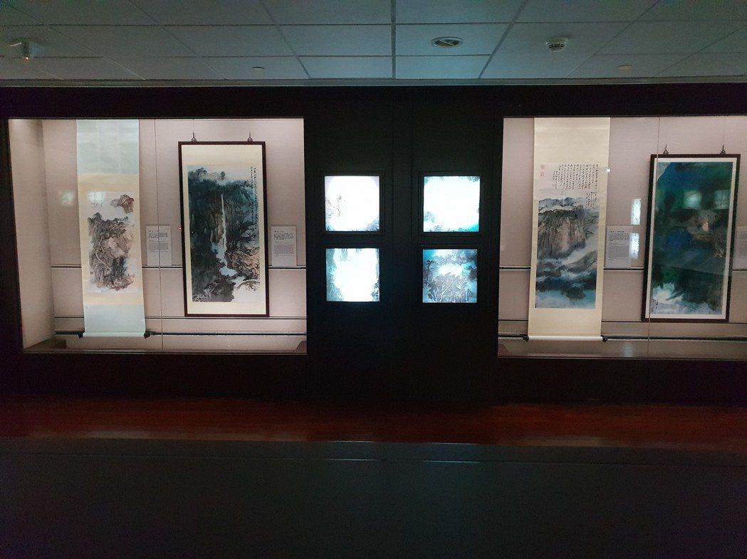 「巨匠的剪影:張大千120歲紀念大展」4月1日在故宮開展。 記者陳宛茜/攝影