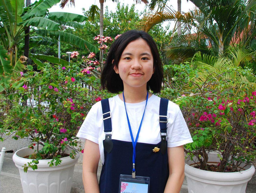 這次獲得推薦的優秀女學生謝汶佳。 楊鎮州/攝影