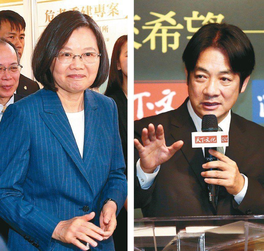 民進黨內普遍認為,「蔡賴配」是最強組合。 記者余承翰、林俊良/攝影