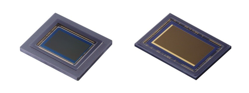 左為可同時拍攝可視光與紅外線光譜影像的1.2億畫素APS-H片幅CMOS感光元件...