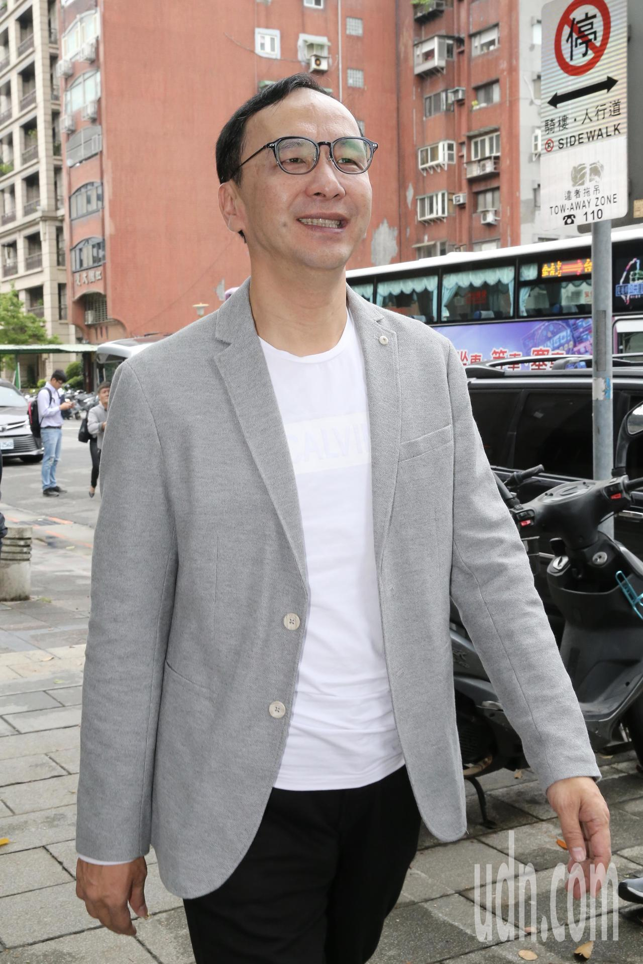 新北市前市長朱立倫上午出席「雲林時刻」地方創生特展開幕活動。記者許正宏/攝影
