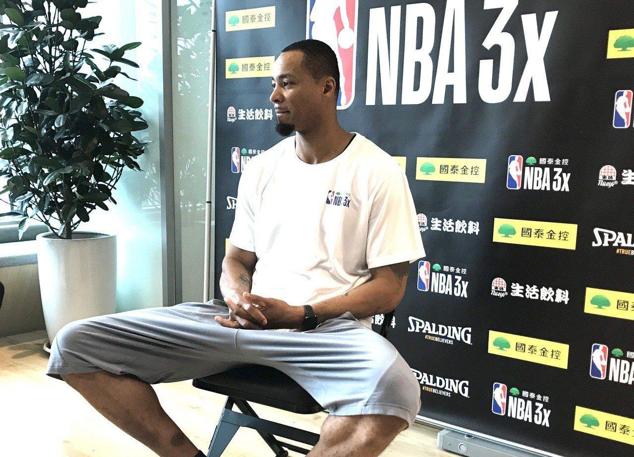 前NBA球星路易斯(Rashard Lewis)本周訪台。記者毛琬婷/攝影