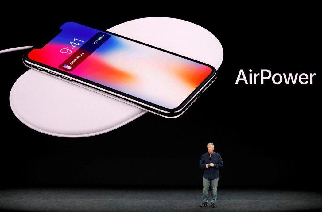2017年蘋果發表iPhone X,同時發表AirPower。   路透
