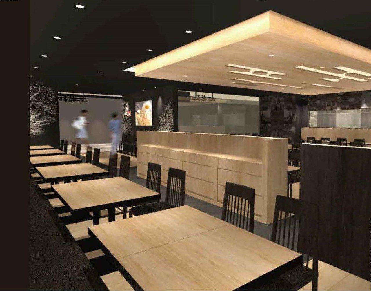 統一時代百貨店設有82席座位。圖/餃子的王將提供