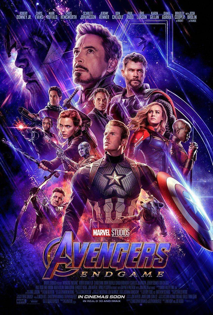 「復仇者聯盟:終局之戰」 美國版海報設計讓美國隊長居C位,但鋼鐵人的臉部比例最大...