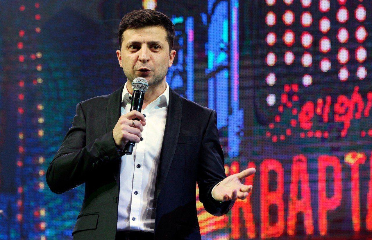 烏克蘭新總理澤倫斯基(Volodymyr Zelenskiy)。 歐新社