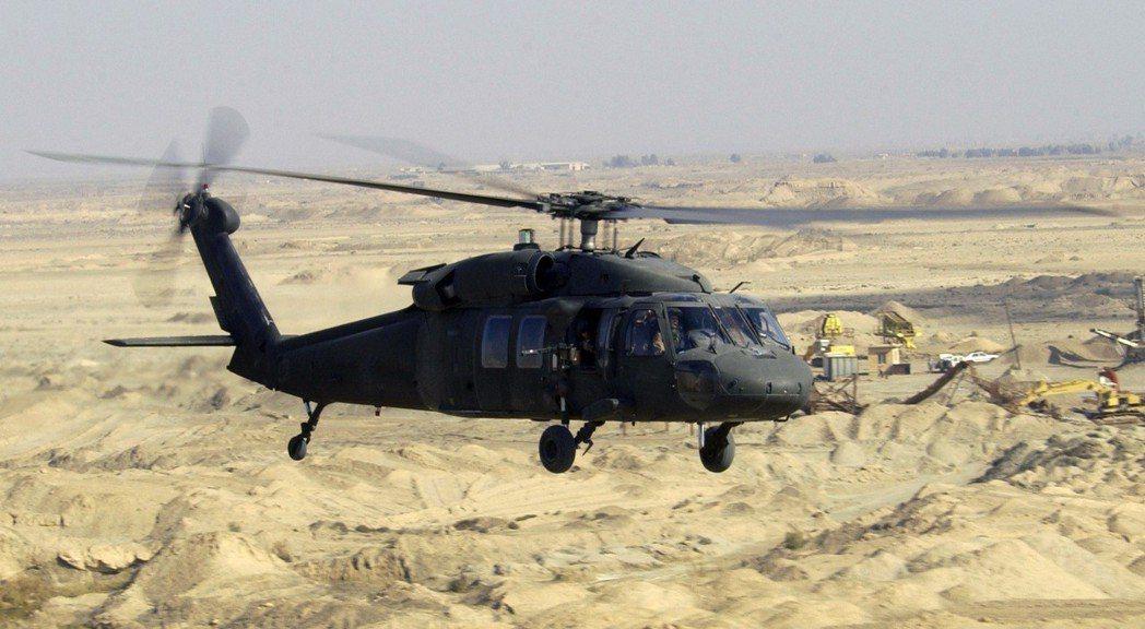 UH-60黑鷹直升機。(美國國防部檔案照)