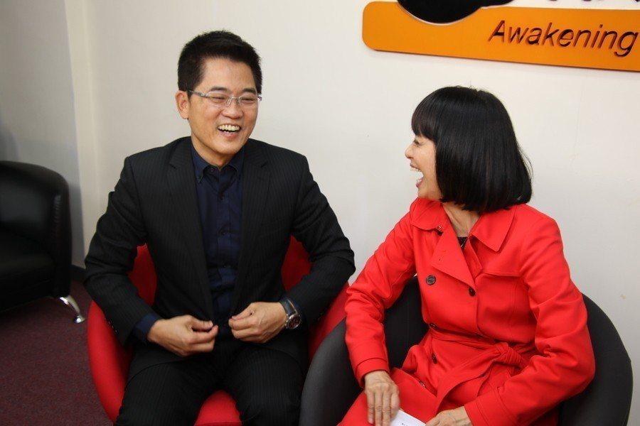 前台東縣長黃健庭與夫人陳怜燕。(Photo by g施養正/台灣醒報)