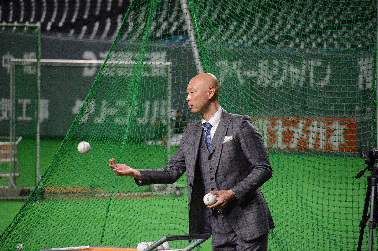 火腿隊退役球星森本稀哲。特派記者蘇志畬/日本札幌攝影