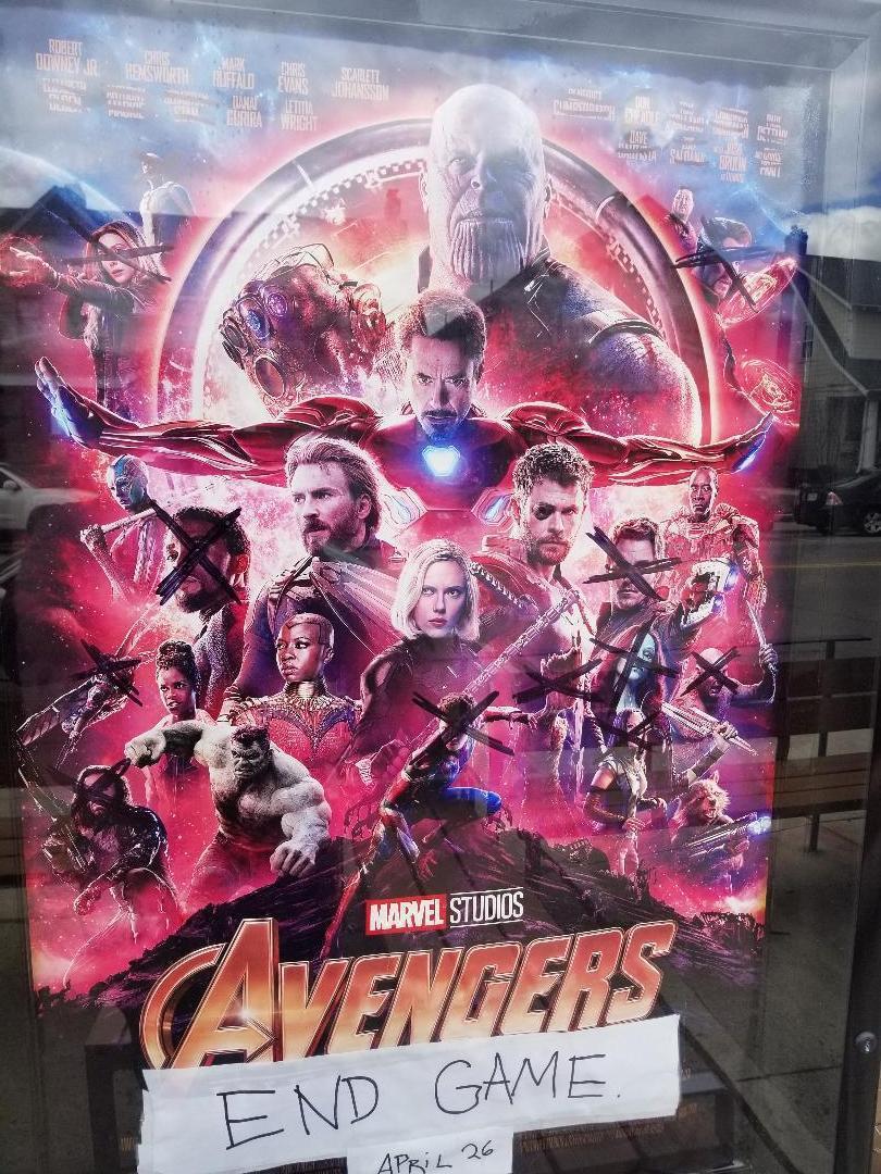 網路上盛傳的「復仇者聯盟:終局之戰」海報。圖/摘自Reddit