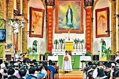 天主教近年在中國的信眾明顯增加。星島日報
