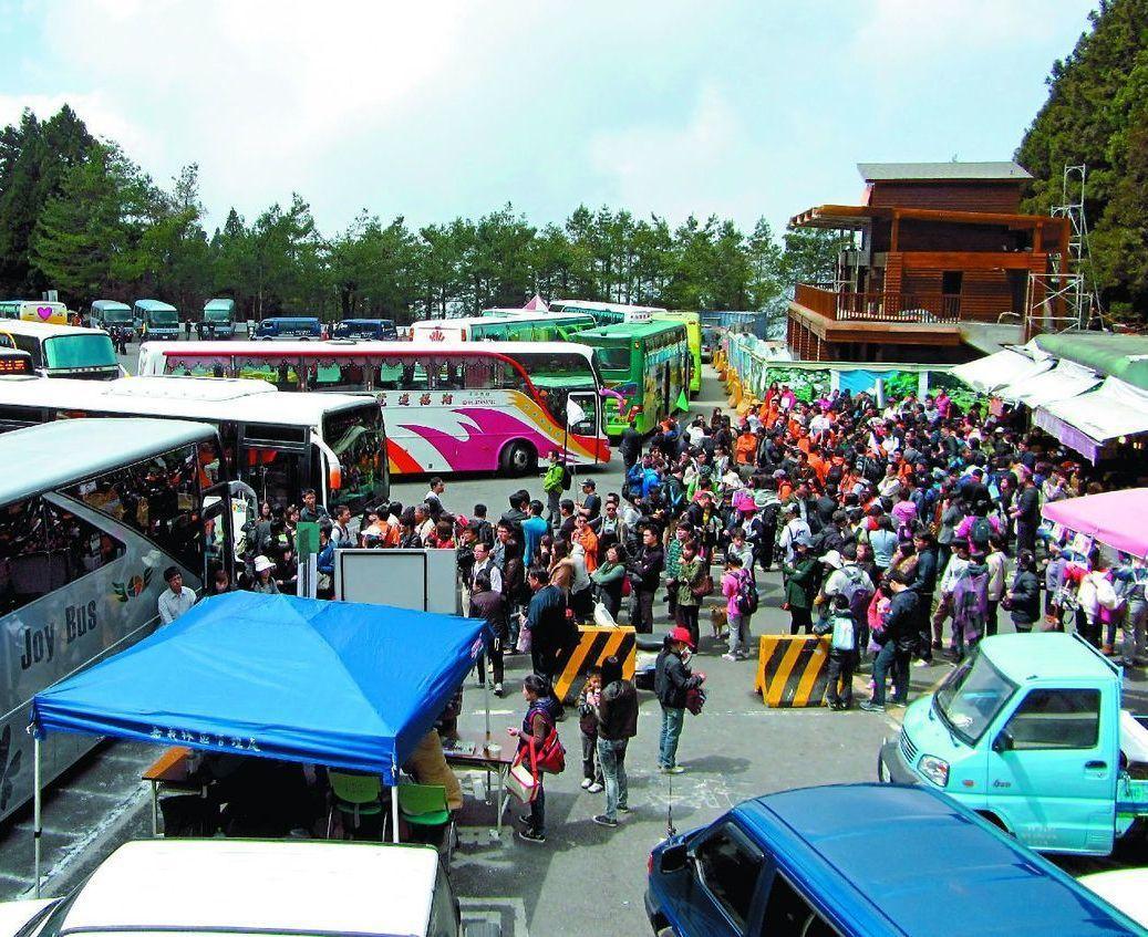 旅行業者表示,春遊補助打亂旅遊市場,最近遊覽車供不應求。本報資料照片