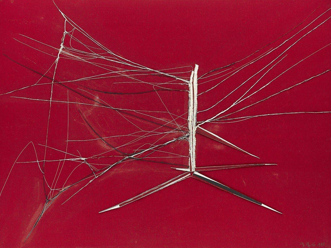 朱為白《網路(一)》1996,家屬自藏。圖/國美館提供
