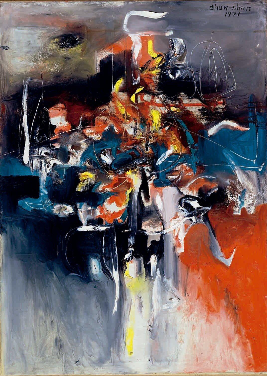 李仲生《抽象畫》,國立台灣美術館典藏。圖/國美館提供