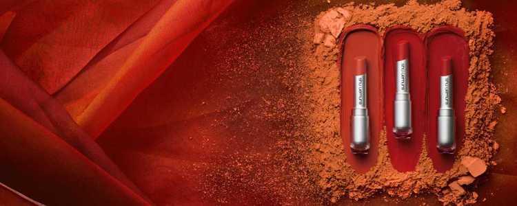 無色限唇膏焦糖橘限量系列。圖/植村秀提供