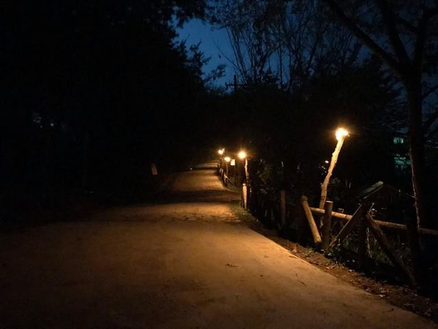 由清大教授周卓煇研發的類燭光OLED燈,能兼顧部落照明,也可守護生態,長老向遊客...