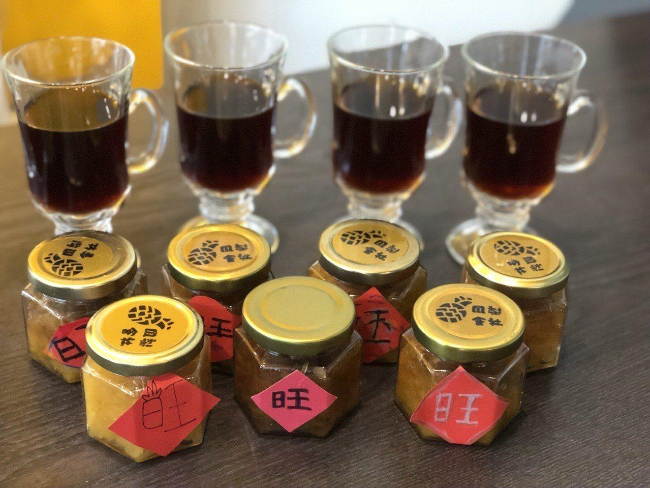 社區推出的鳳梨醬等產品。記者王慧瑛/攝影