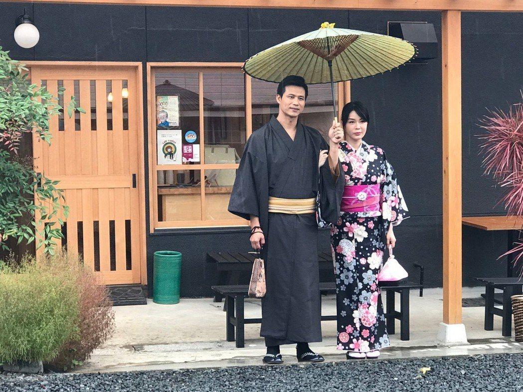 陳國華和Ivy為了穿和服吃足苦頭。圖/亞洲旅遊台提供
