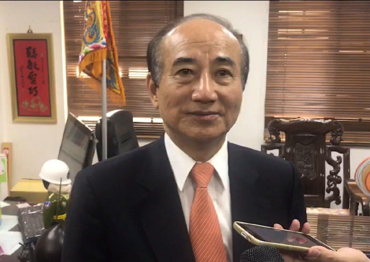 立法院前院長、國民黨立委王金平尊重黨中央的會面安排。記者修瑞瑩/攝影