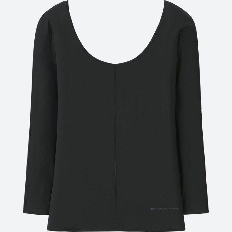女裝 AW AIRism 圓領T恤(長袖),590元。圖/UNIQLO提供