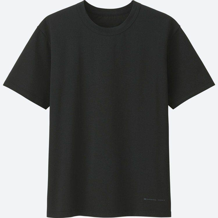 男裝AW AIRism圓領T恤(短袖),590元。圖/UNIQLO提供