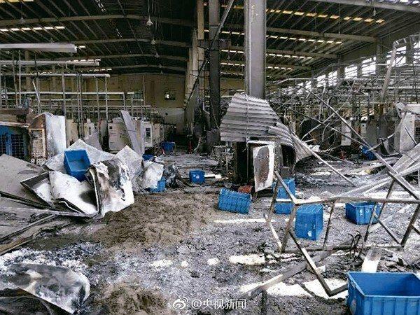 華孚旗下昆山漢鼎精密發生爆燃意外,造成七人死亡。 網路照片