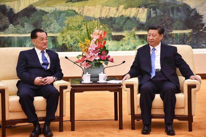 前副總統連戰2018年到北京會見習近平,發表談話強調「一個中國」 及「兩岸關係不...