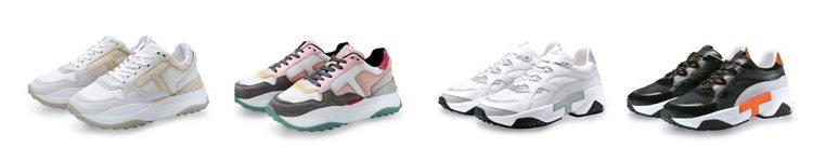 TOD'S T Logo科技布料女士休閒鞋 (左一左二)、TOD'S撞色拼接男士...