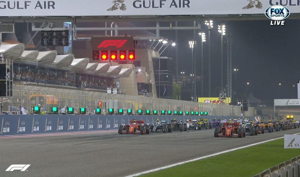 巴林大獎賽是今年F1首場夜戰。 截自FOX+