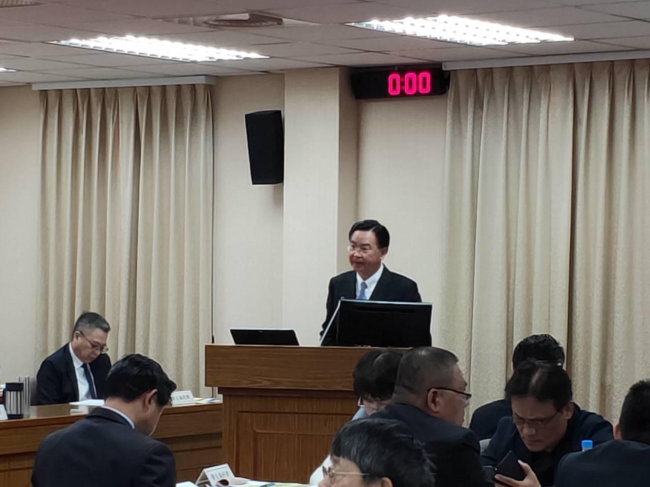 外交部長吳釗燮。記者徐偉真/攝影