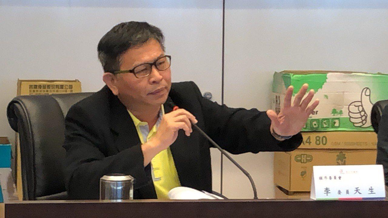 民進黨議員李天生要求依程序審查花博票務案。記得陳秋雲/攝影