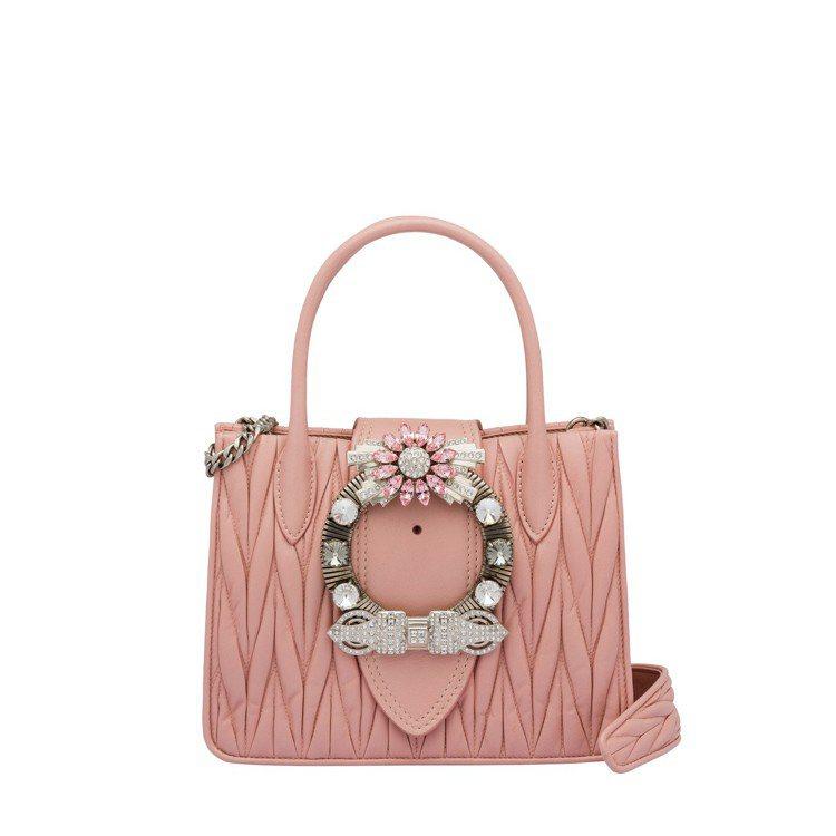 MIU LADY小牛皮手提包,89,500元。圖/MIU MIU提供