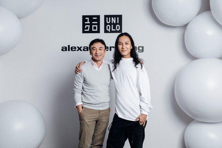 知名設計師Alexander Wang與UNIQLO全球研發總裁勝田幸宏。圖/U...