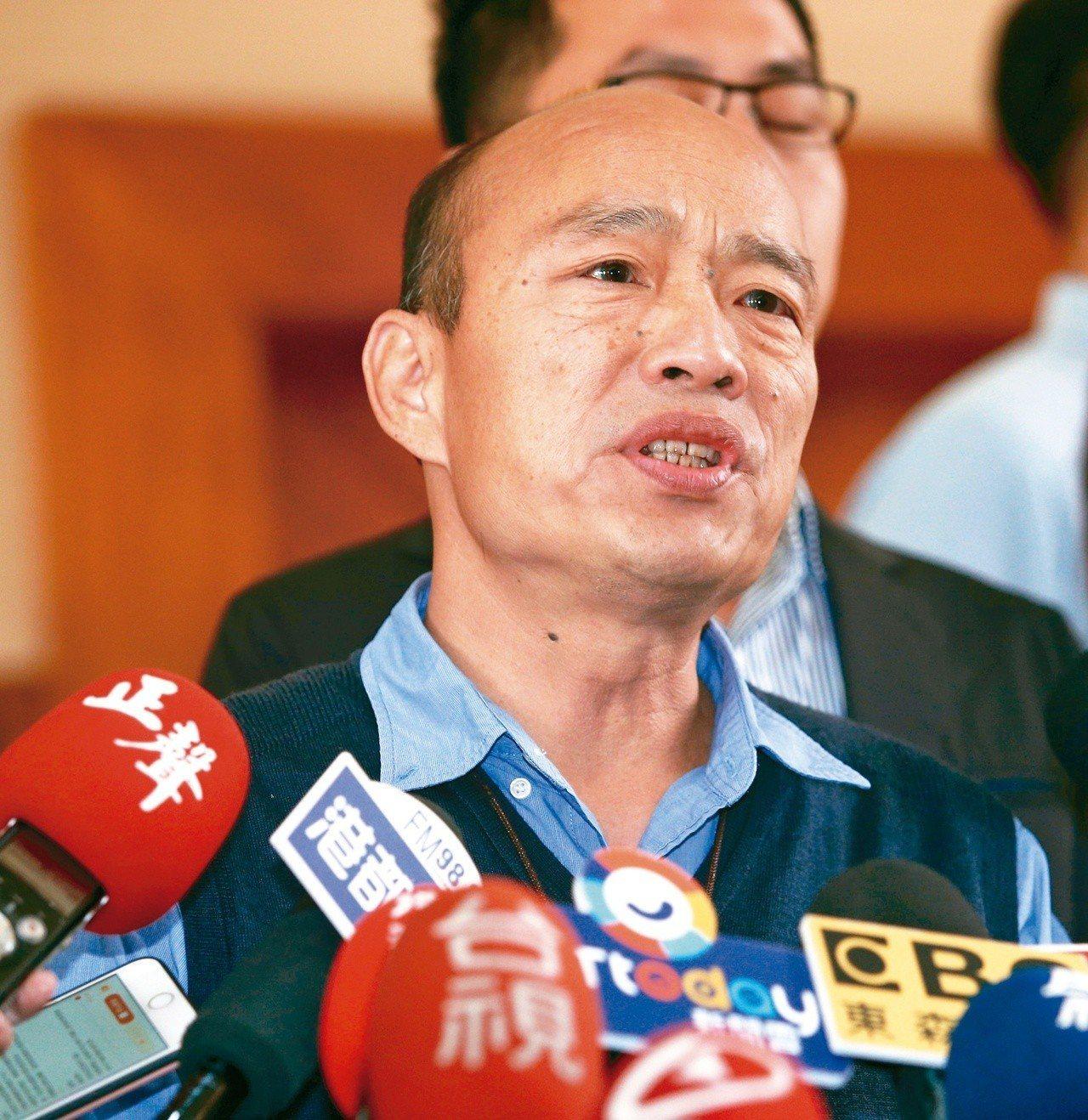 高雄市長韓國瑜參選2020與否,有正當性問題待克服。 記者劉學聖/攝影