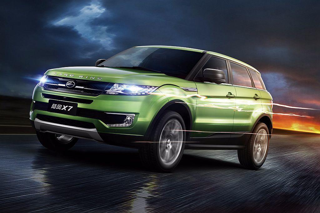 2014年中國廣州車展亮相的陸風X7休旅車,由於與Land Rover Rang...
