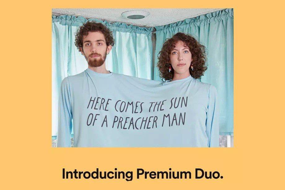 Spotify為搶攻商機,日前在部分市場試推出雙人共享的「Premium Duo...