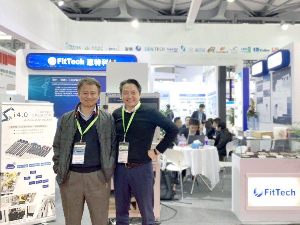 惠特科技技術長賴允晉(左)及惠特科技業務副總黃翊彰(右)。 惠特科技/提供