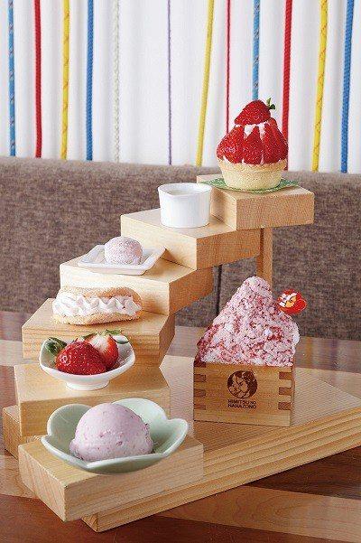 プレミアムあまおうタワー (高級甘王草莓塔 )¥1800/含福岡知名草莓品種「甘...