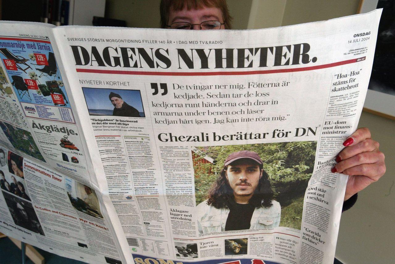 每日新聞報2004年的版面。美聯社