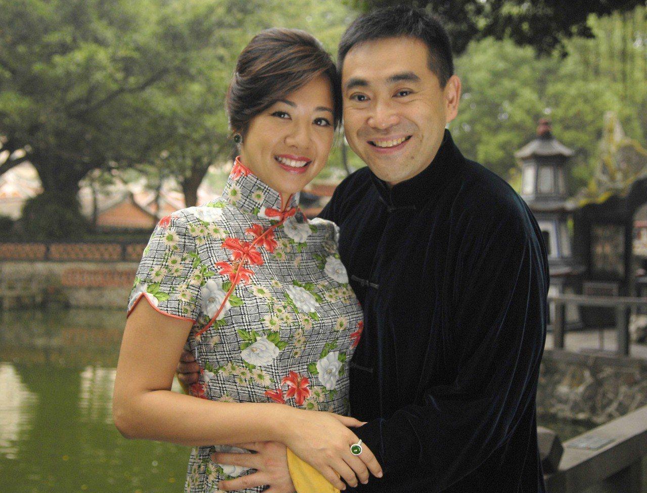 新光人壽副總經理吳欣盈與前夫林知延。報系資料照/華南銀行提供