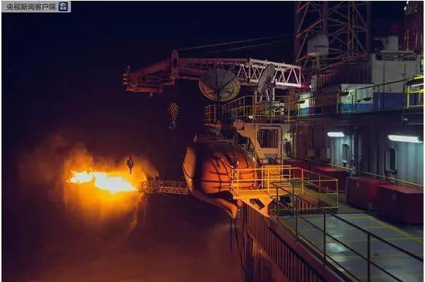 中海油在渤海挖出最大天然氣田,儲量達千億方級。央視截圖