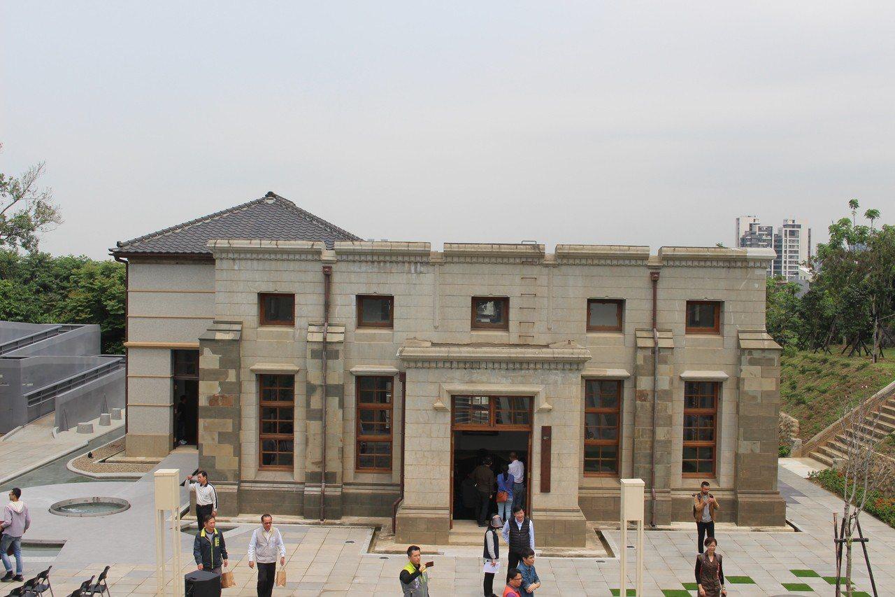 耗時4年多修復,「新竹水道取水口」展示館今天啟用。記者張雅婷/攝影
