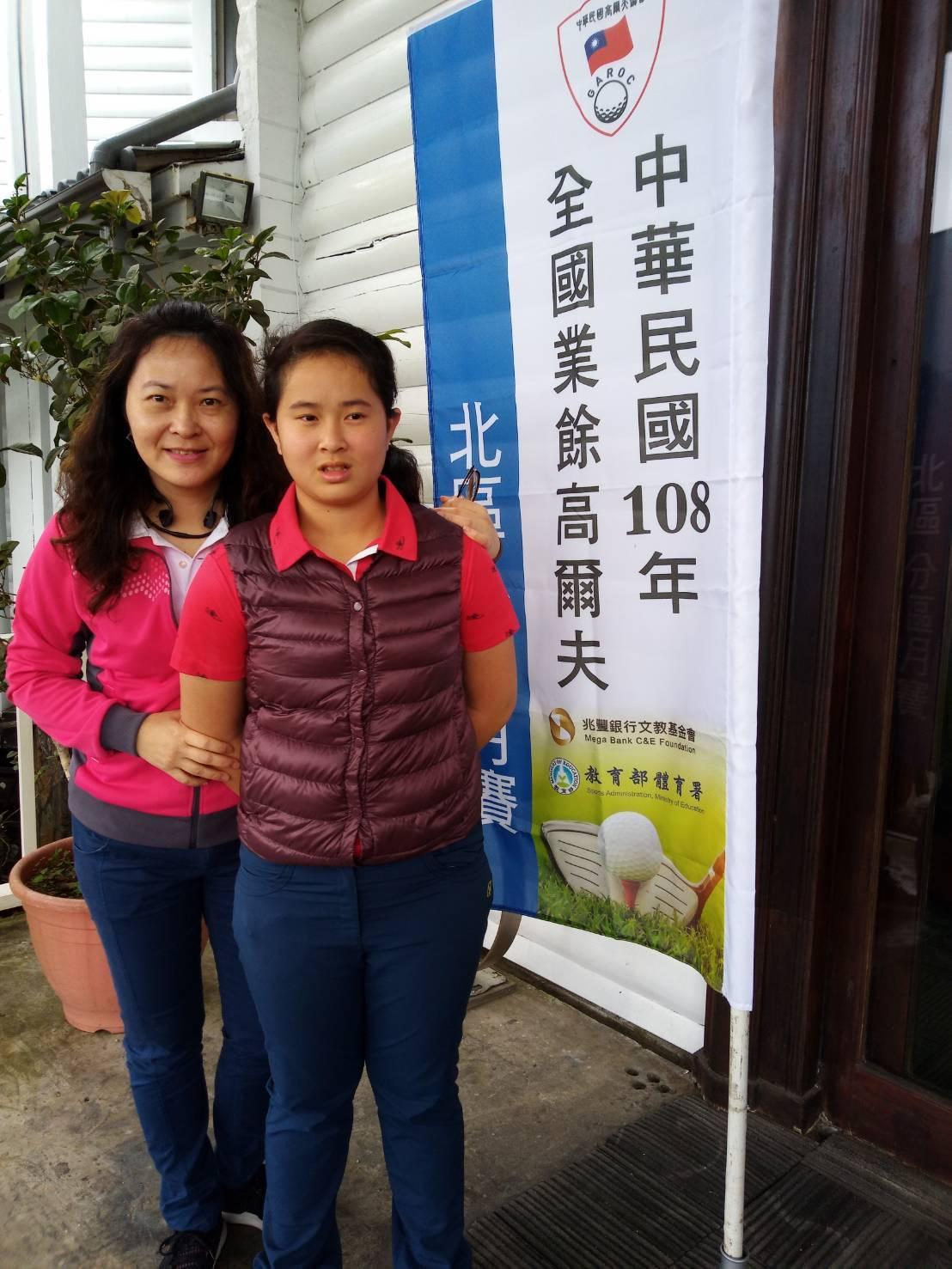 桃園會稽國中國一蔡宜儒在北區月賽第一輪以74桿領先各組選手。圖/中華高協提供