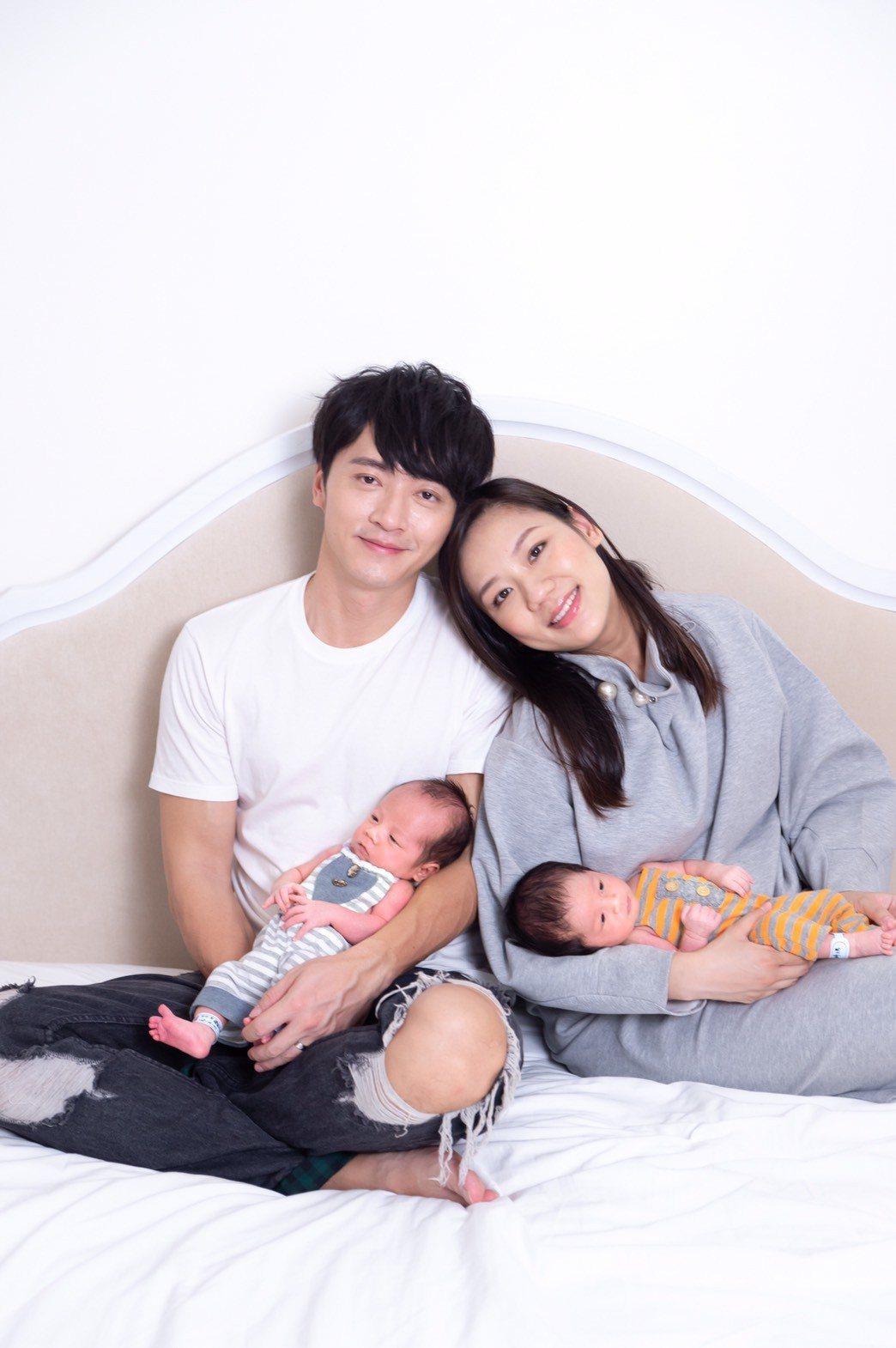 馬俊麟和老婆梁敏婷喜迎雙胞胎。圖/民視提供