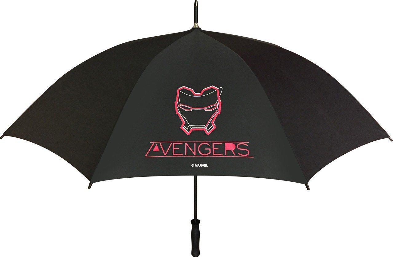 7-ELEVEN「MARVEL復仇者聯盟」限量漫威27吋變色大直傘的LOGO在遇...
