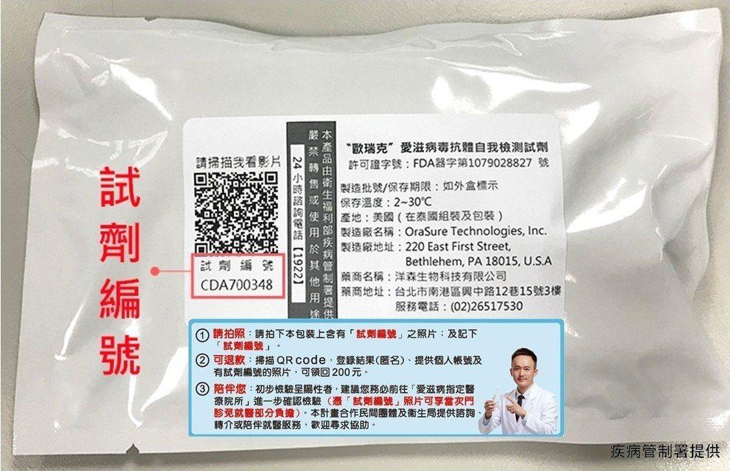 在家愛滋自我篩檢初篩陽性者,攜帶可清楚辨識「試劑編號」照片,至愛滋指定醫事機構確...